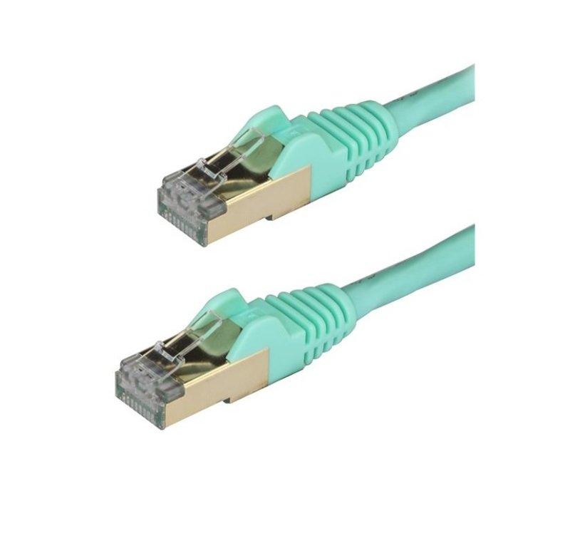 StarTech.com Cat6a 1M Aqua Patch Cable STP