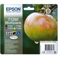 Epson T1295 Black Cyan Magenta Yellow Ink Cartridge (Pack of 4)