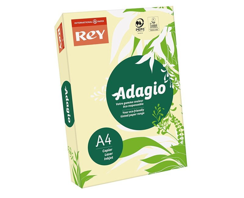 Image of Rey Adagio (A3) 80g/m2 Paper Canary (500 Sheets)