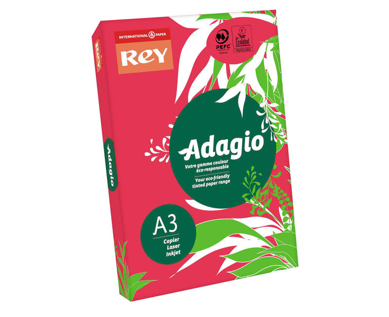Rey Adagio A3 Paper 80gsm Pink Rm500