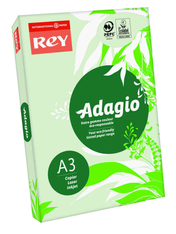 Image of Rey Adagio A3 80gsm Green (Ream 500 Sheets)