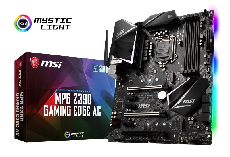 EXDISPLAY MSI MPG Z390 GAMING EDGE AC LGA 1151 DDR4 Motherboard