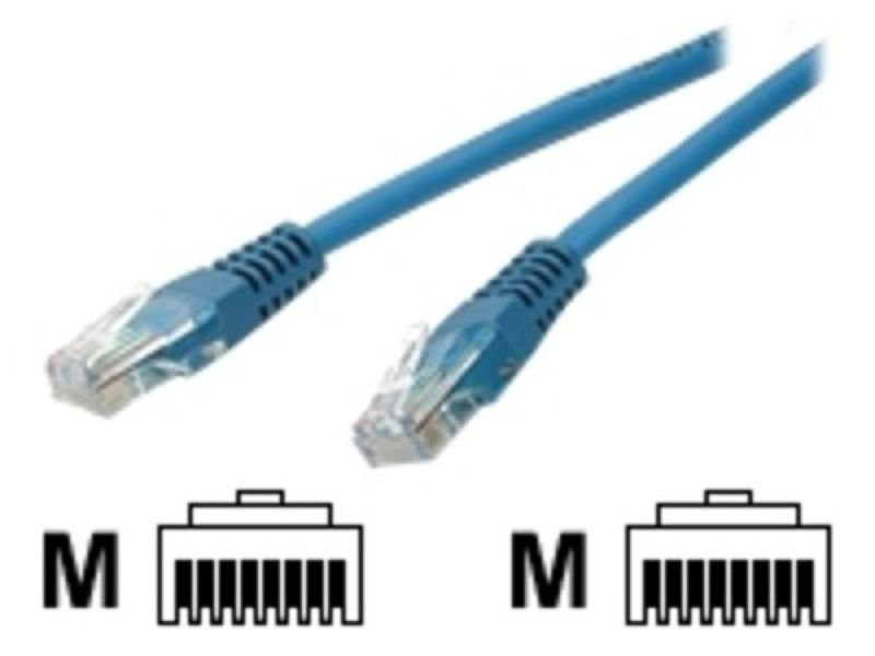 15 ft Blue Molded Cat5e UTP Patch Cable