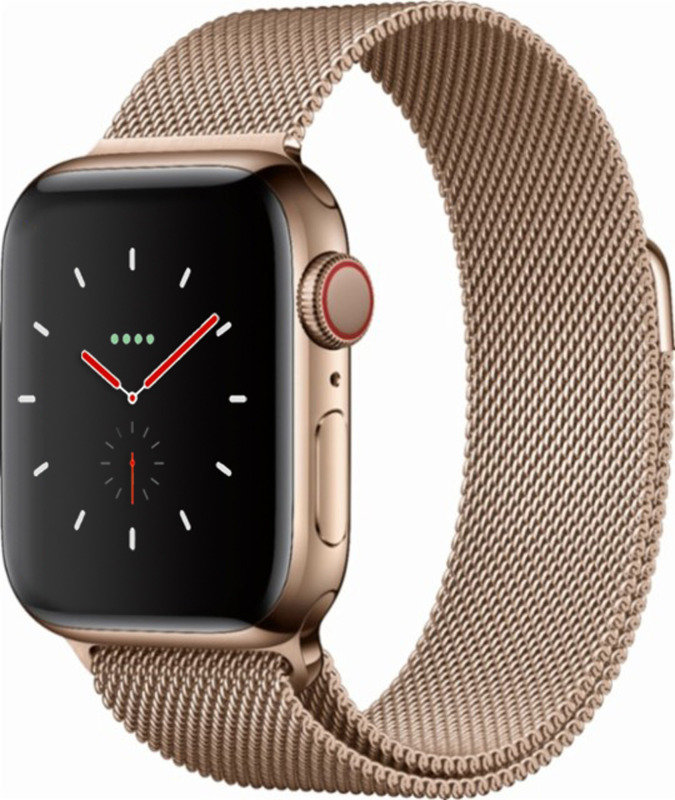 Apple Watch Series 4 GPS + Cellular, 40mm Gold Stainless Steel Case with Gold Milanese Loop cheapest retail price