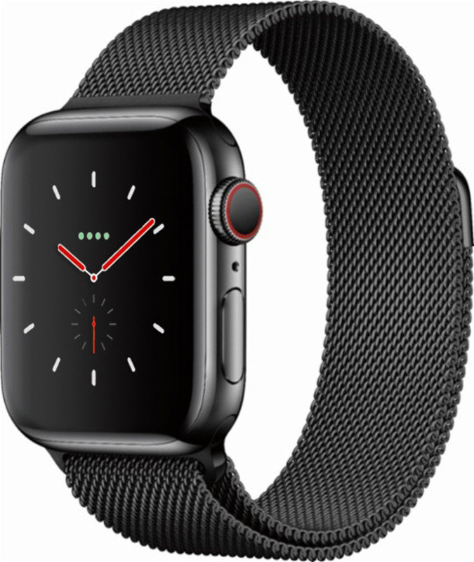 Apple Watch Series 4 GPS + Cellular, 40mm Space Black Stainless Steel Case with Space Black Milanese Loop cheapest retail price