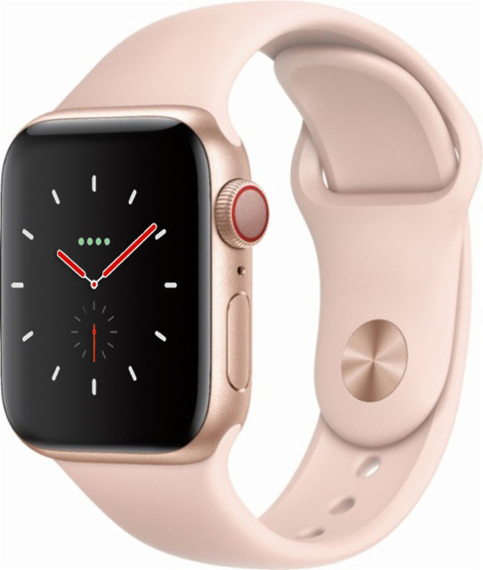 Apple Watch Series 4 GPS + Cellular, 40mm Gold Aluminium Case with Pink Sand Sport Band cheapest retail price
