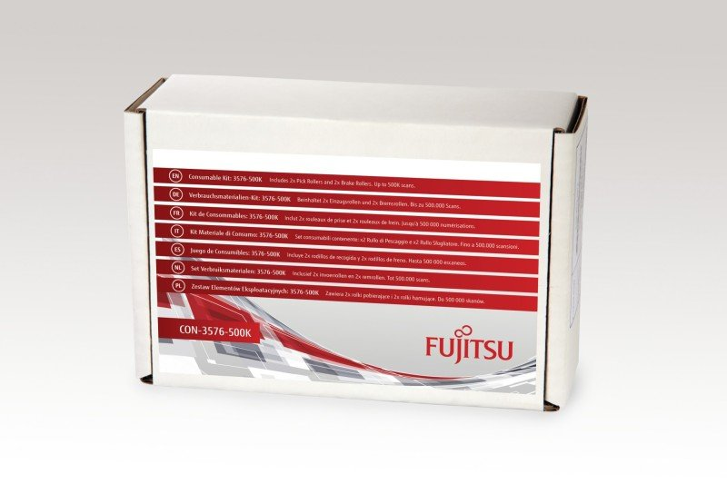 Fujitsu/PFU Consumable Kit: 3576-500K For fi-6670, fi-6750S, fi-6770. Includes 2x Pick Rollers and 2x Brake Rollers. Estimated Life: Up to 500K scans.
