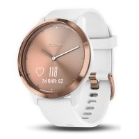 Garmin Vivomove Hybrid Smartwatch Rose Gold Silicone Band With Heart Rate Monior