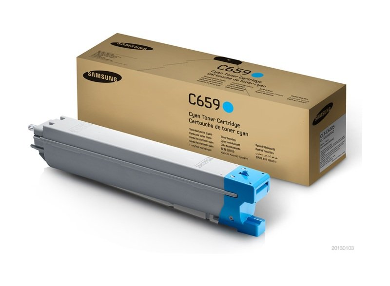 Samsung	CLT-C659S Cyan Original Toner Cartridge - Standard Yield 20000 Pages - SU093A