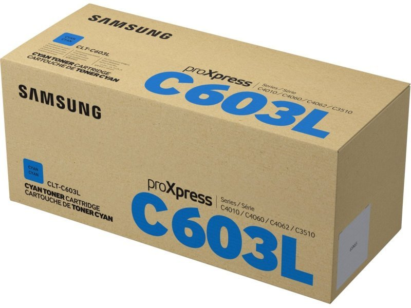 Samsung	CLT-C603L Cyan Original Toner Cartridge - High Yield 10000 Pages - SU080A