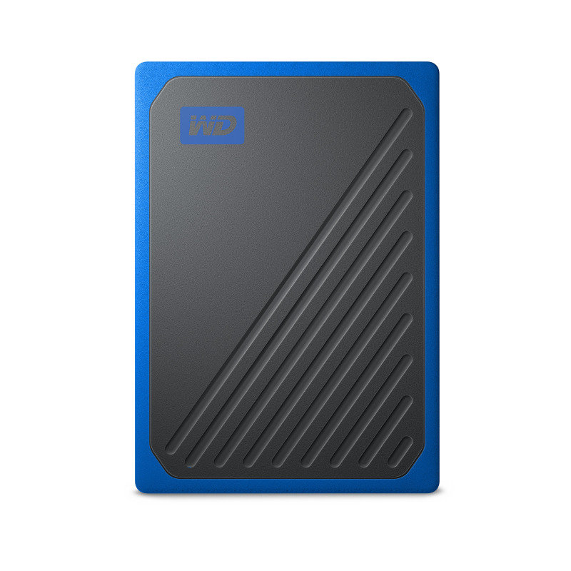 Image of WD My Passport Go 500GB Black w/ Cobalt trim