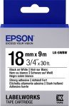 Epson Tape/LK-5WBW Stn Adh 18mm 9m Black/White