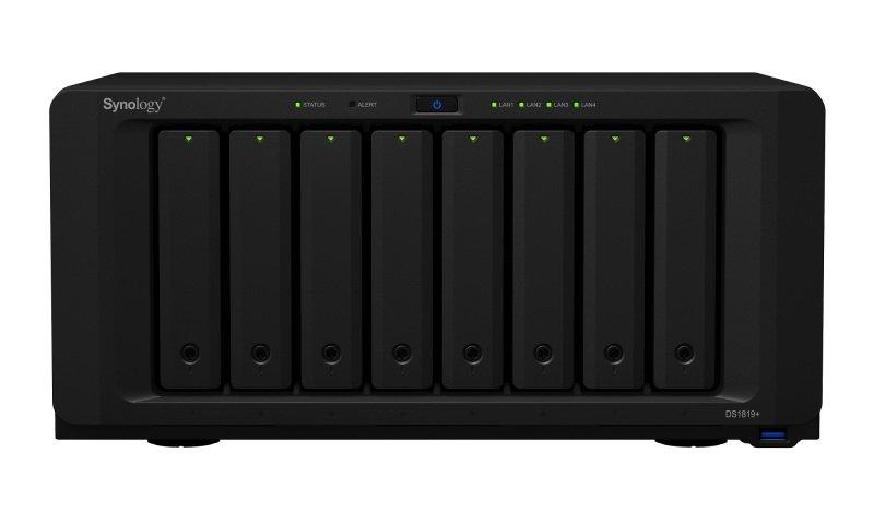 Synology DS1819+ 80TB (8 x 10TB SGT-EXOS) 8 Bay Desktop NAS Unit