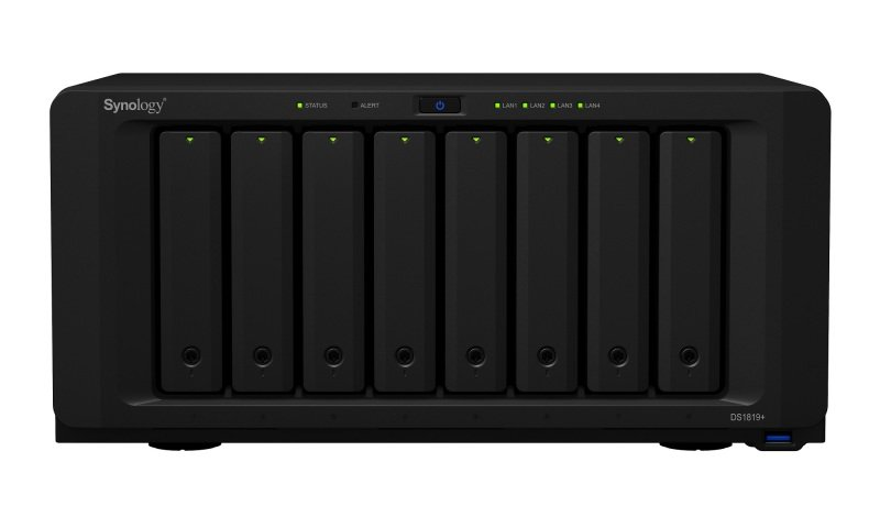 Synology DS1819+ 64TB (8 x 8TB WD RED) 8 Bay Desktop NAS Unit