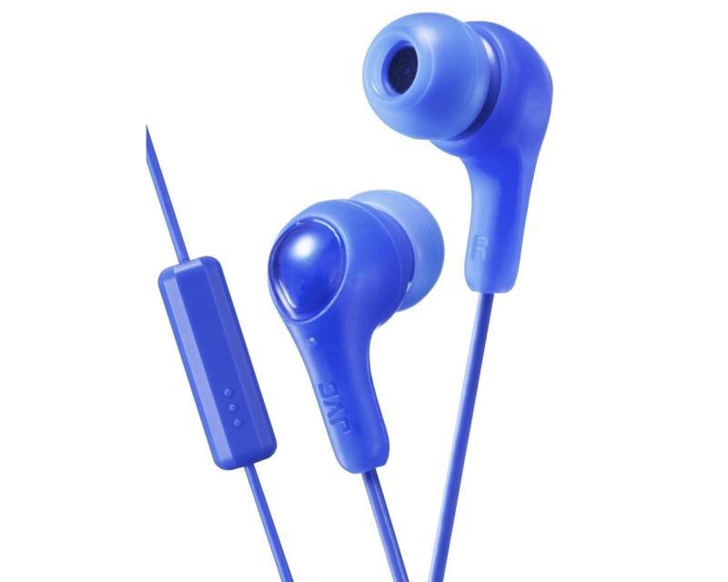 JVC Gumy Plus Blue Earphones