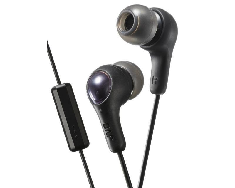 JVC Gumy Plus Black Earphones