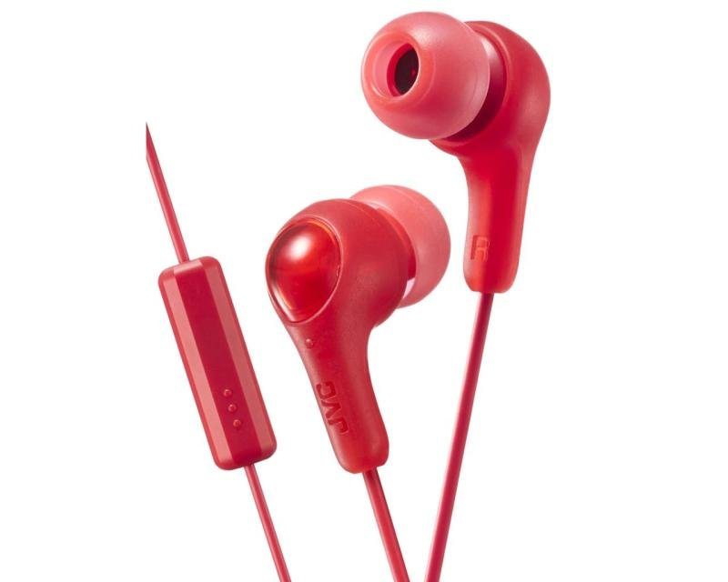 JVC Gumy Plus Red Earphones