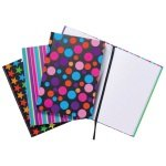 A5 Fashion Assorted Feint Ruled Casebound Notebooks (Pack of 5)
