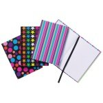 A6 Fashion Assorted Feint Ruled Casebound Notebooks (Pack of 10)