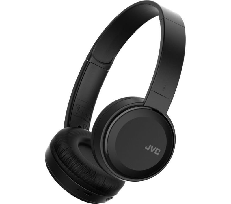 JVC Deep Bass Wireless Black On Ear Headphones
