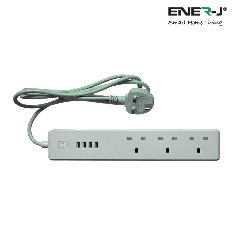Ener-J Wifi UK Power Extension Strip