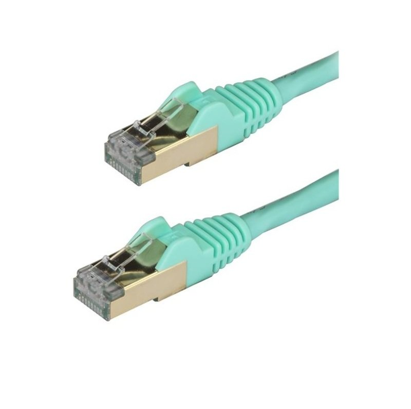 StarTech.com Cat 6a Patch Cable Aqua 2M STP