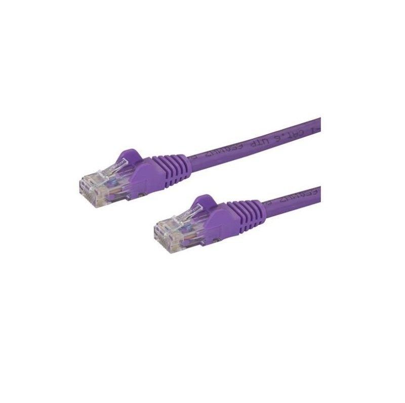 StarTech.com Cat 5e Snagless Ethernet Cable Purple 10M