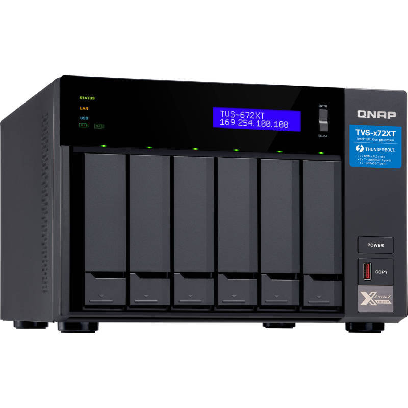QNAP TVS-672XT-i3-8G 6 Bay Desktop NAS Enclosure