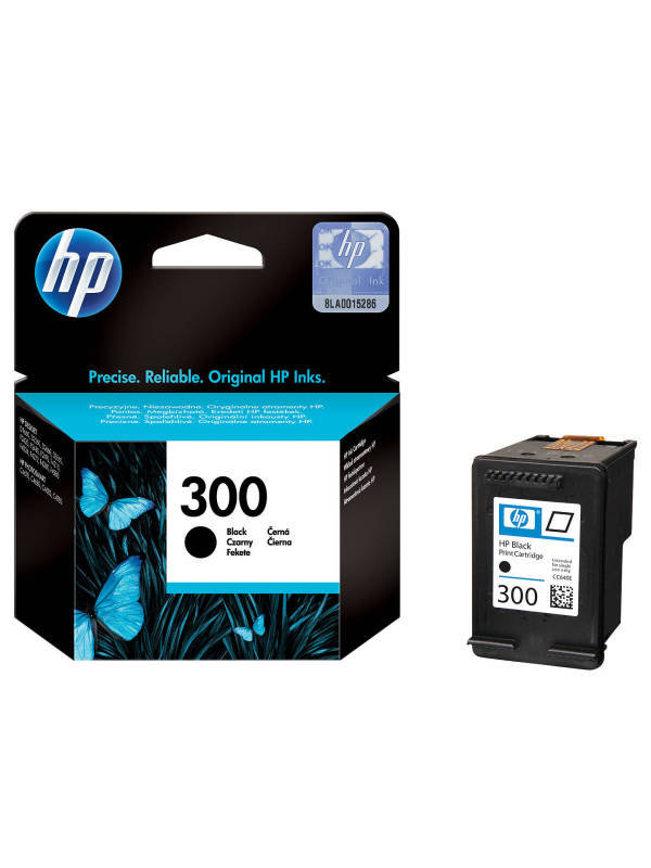 HP 300 Black OriginalInk Cartridge - Standard Yield 200 Pages - CC640EE