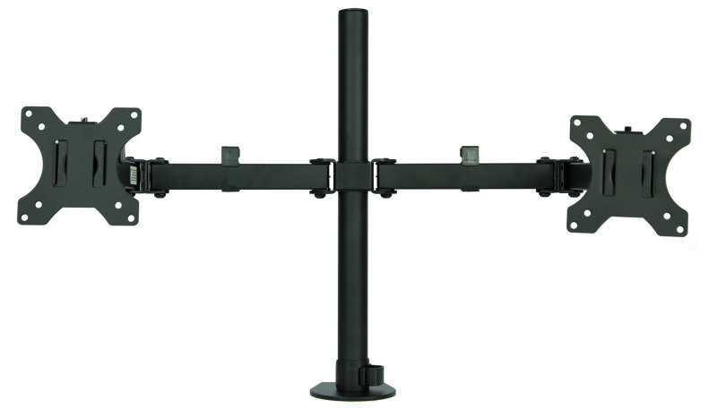 Xenta Dual Monitor Mount for 13-32inch Screens | Double Arm Desk Stand Bracket with Clamp