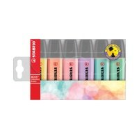 Stabilo Boss Original Highlighters Assorted Pastel Colours (Pack of 6)