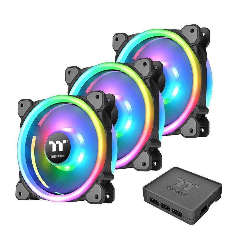 Riing Trio 12 LED RGB Radiator Fan TT Case (3-Fan Pack)