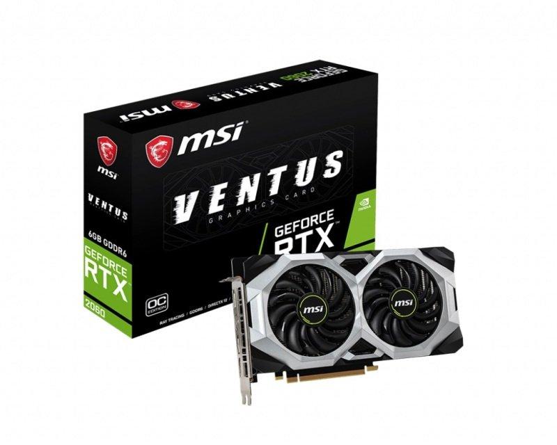 MSI GeForce RTX 2060 VENTUS 6GB OC Graphics Card