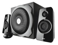 EXDISPLAY Tytan 2.1 Subwoofer Speaker Set - Black Uk