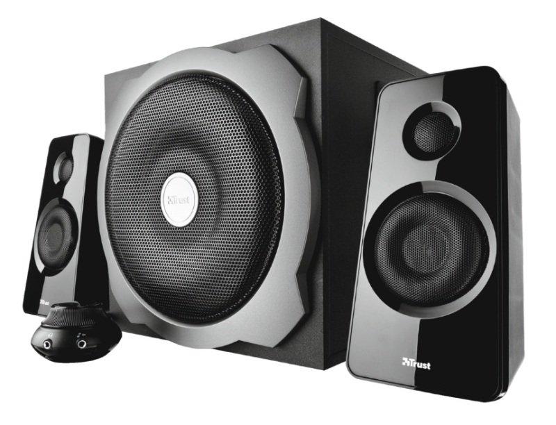 EXDISPLAY Tytan 2.1 Subwoofer Speaker Set - Black Uk