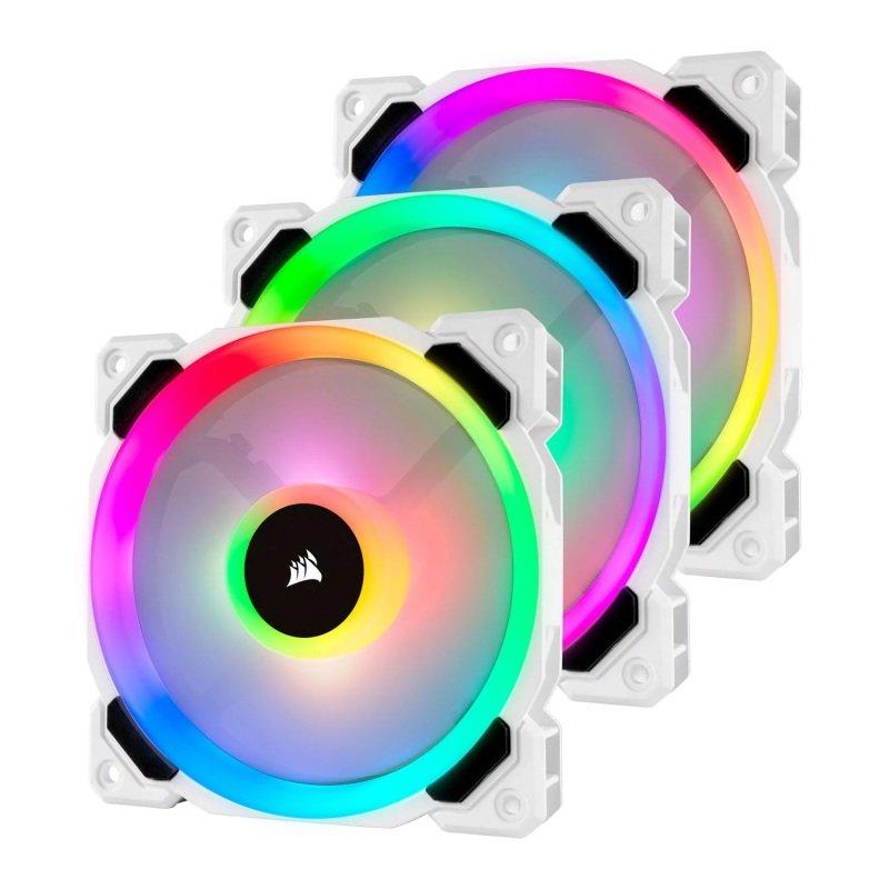 Corsair LL120 RGB 120mm White RGB LED PWM Triple Fan Pack