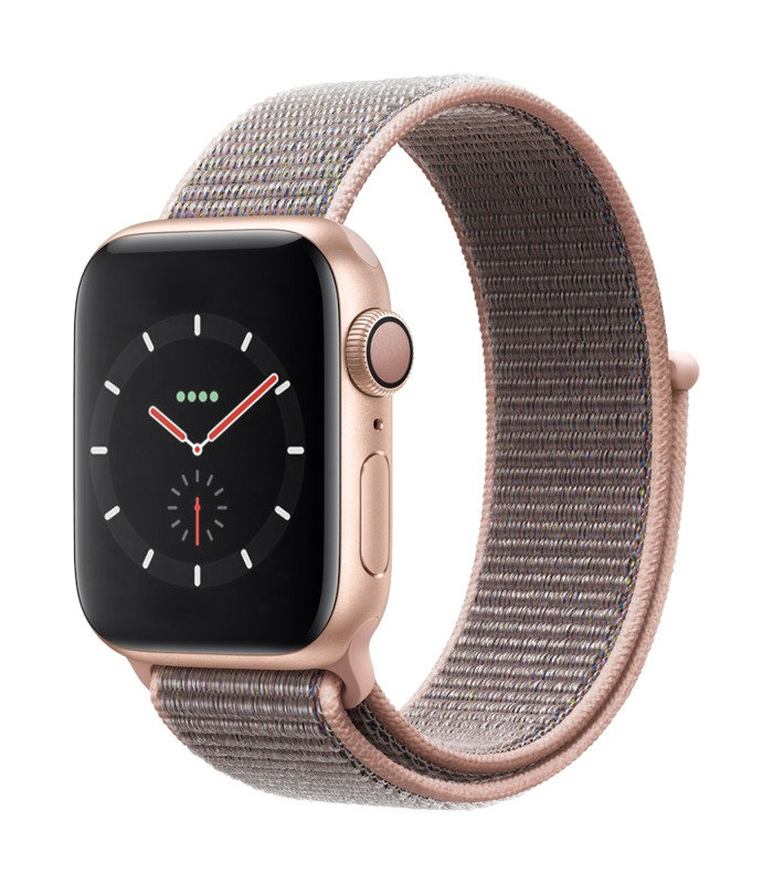 Apple Watch Series 4 GPS, 40mm Gold Aluminium Case with Pink Sand Sport Loop cheapest retail price