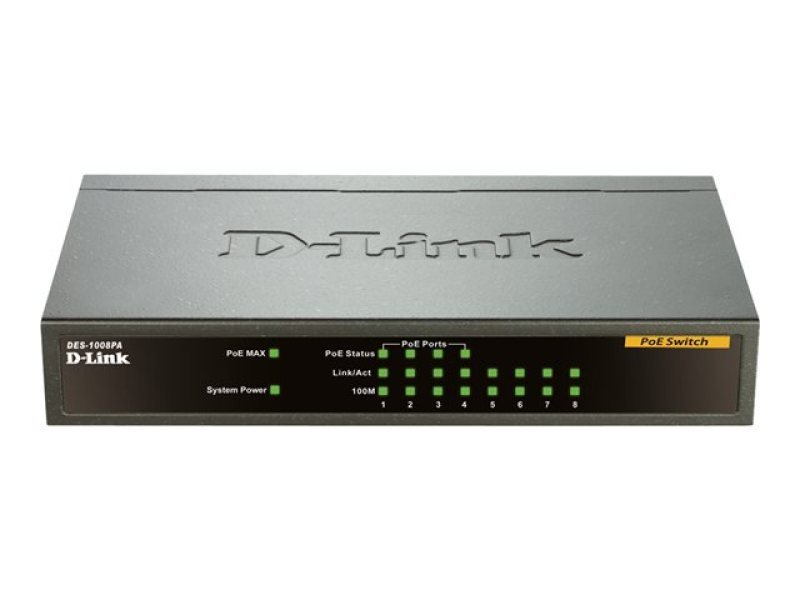 EXDISPLAY D-Link 8-port 10/100 Desktop Switch with 4 PoE Ports