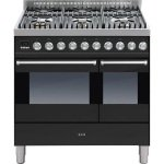 ILVE Ultimo Dual Fuel 90cm Twin 6 Burner Gloss Black