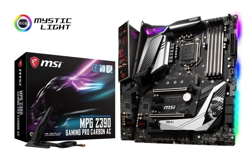 EXDISPLAY MSI MPG Z390 GAMING PRO CARBON AC LGA 1151 DDR4 Motherboard