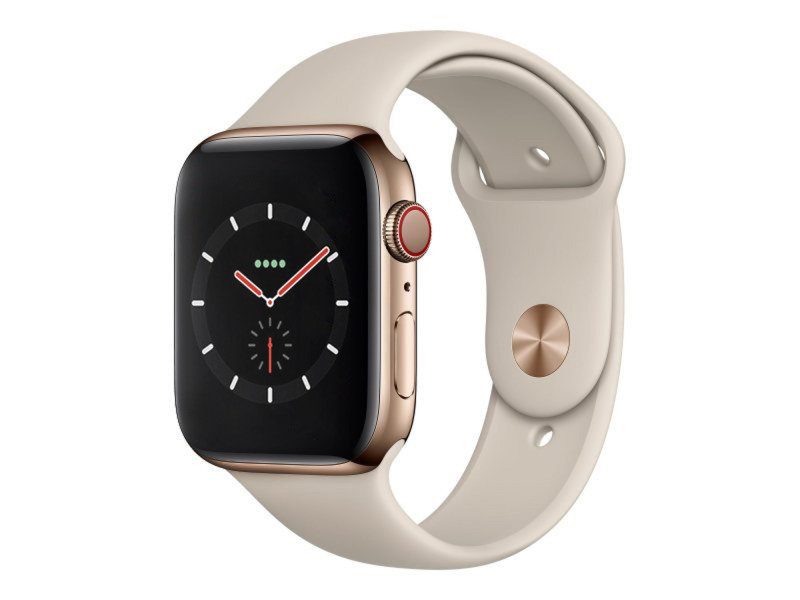 Apple Watch Series 4 GPS + Cellular, 40mm Gold Stainless Steel Case with Stone Sport Band cheapest retail price
