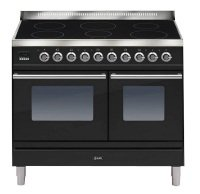 ILVE Roma All Electric 100cm Twin 6 Zone Induction Matt Black