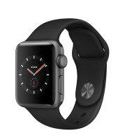Apple Watch Series 3 38mm Space Grey + Black Sport Band