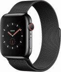 Apple Watch Series 4 GPS + Cellular, 44mm Space Black Stainless Steel Case with Space Black Milanese Loop
