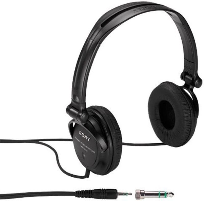 EXDISPLAY Sony MDR-V150 Black Headphones with Reversible Housing and 30mm Drive Unit