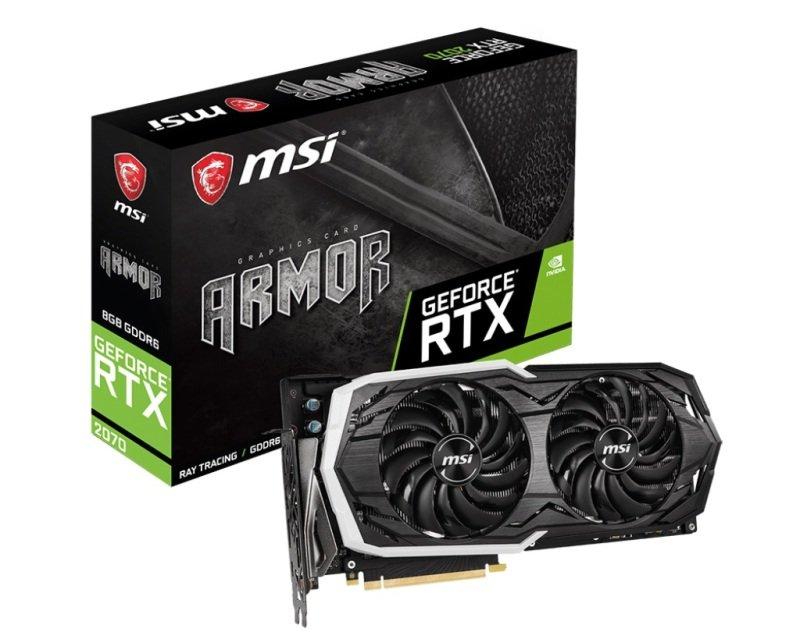 EXDISPLAY MSI GeForce RTX 2070 ARMOR 8GB Graphics Card