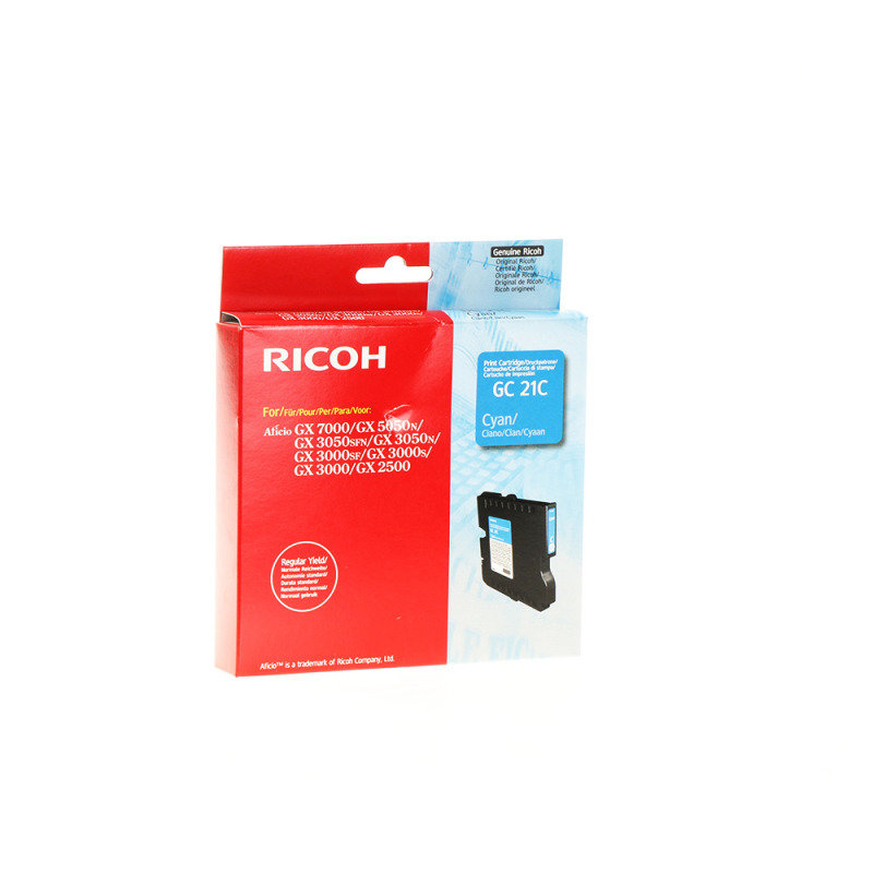 Ricoh GC 21C Cyan Gel Ink Cartridge