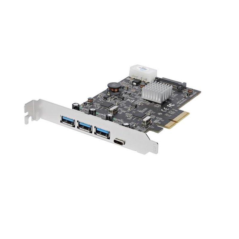 StarTech.com 4-Port USB 3.1 PCIe Card - 3x USB-A and 1x USB-C - 2x Dedicated Channels