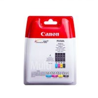 Canon CLI-551 Black/Cyan/Magenta/Yellow Ink Cartridge