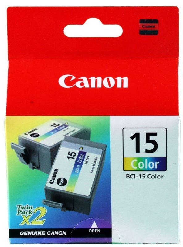 Canon Inkjet Cart Black Bci-15bk Pk2